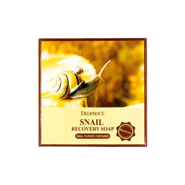 Очищающее мыло для лица с фильтратом секреции улитки Deoproce Soap Snail Moisture Soap