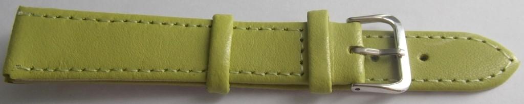 Ремешок кожаный LUX-PL (Польша) 18 мм, салатный