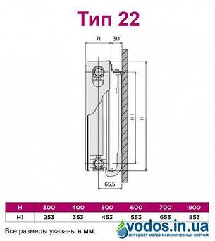 Радиатор отопления Quinn Quattro стальной панельный боковой K22  600 x 800 мм  1941 Ватт - Q22608KD (Бельгия). , фото 2