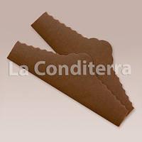 """Коричневые салфетки из пергамента для тортов """"Корона"""" (220x75 мм), в упаковке - 500 шт."""