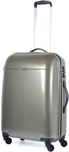 Пластиковый чемодан на колесиках 61 л. Puccini PС-005, 6832/28 золотой