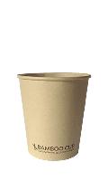 Бумажный ЭКО стакан однослойный BAMBOO бамбуковый 185мл/50шт/упак