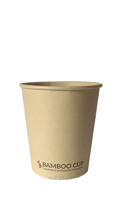 Бумажный ЭКО стакан однослойный BAMBOO бамбуковый 270мл/50шт/упак, фото 2