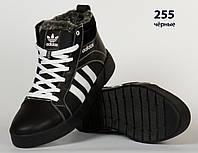 Черные кожаные ботиник Adidas