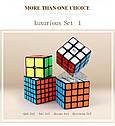 Набор головоломок  кубик рубика 2*2 — 3*3 — 4*4 — 5*5 с наклейками от Qiyi cube, фото 2