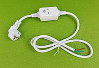 Кабель (провод) сетевой электрический с УЗО защитный 16А / 30mA / 250V / L длина=120см для бойлеров   Италия