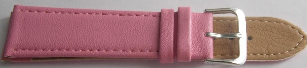 Ремешок кожаный LUX-PL (Польша) 20 мм, розовый