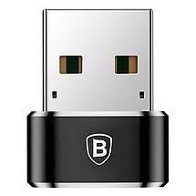 Переходник-адаптер Baseus USB 2.0 к Type-C CAAOTG-01 (Черный), фото 2