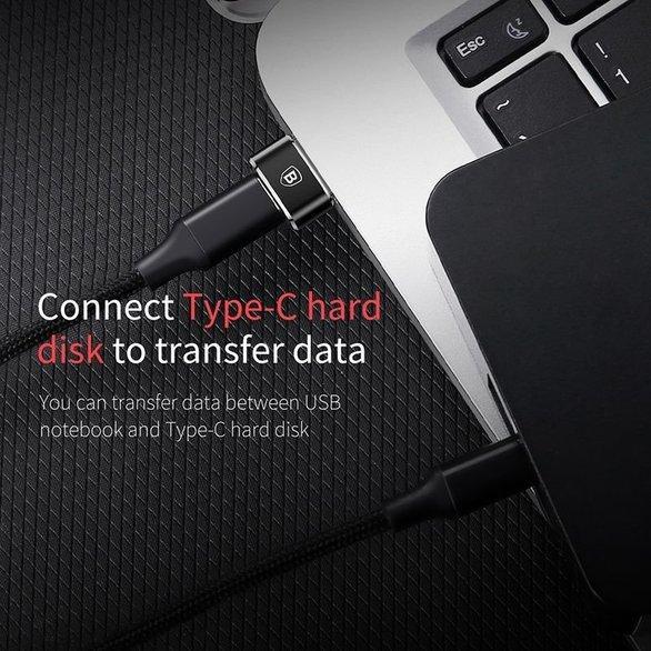 Перехідник-адаптер Baseus Mini USB to USB Type-C CAAOTG-01 Чорний