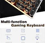 Игровая клавиатура в Ретро стиле с подсветкой. Gaming Keyboard USB , фото 7