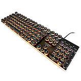 Игровая клавиатура в Ретро стиле с подсветкой. Gaming Keyboard USB , фото 6