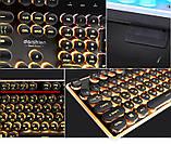 Игровая клавиатура в Ретро стиле с подсветкой. Gaming Keyboard USB , фото 2