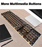Игровая клавиатура в Ретро стиле с подсветкой. Gaming Keyboard USB , фото 4