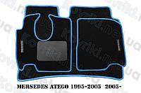 Ворсовые (тканевые) коврики в салон Mercedes-Benz Atego(1995-2005; 2005-)