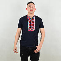 Легкая мужская футболка с вышивкой