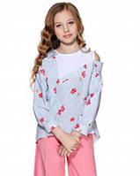 Блузка с асимметричным воротником Lukas 9161