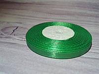 Атласная лента,  0,6  cм зеленый