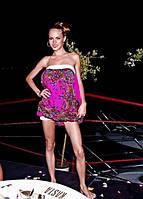 Платье без рукавов из платка