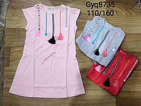 Платье трикотажное  для девочки опт, Glo-story, размеры 110-160, арт. GYQ-8735