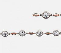 Серебряный женский браслет с золотом Видень, фото 1