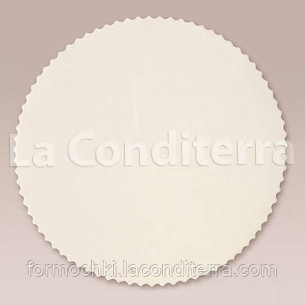 Круглые салфетки из пергамента для тортов и кондитерской сервировки (белые, d=300 мм), в упаковке - 1000 шт.