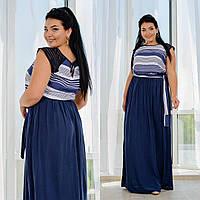 Женское летнее платье №1267.1(р.50-56) синий, фото 1