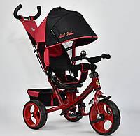 Детский трёхколёсный велосипед 6570 Best Trike КРАСНЫЙ, большие колёса Пена, с ручкой