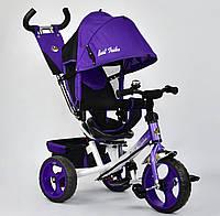 Детский трёхколёсный велосипед 6570 Best Trike ФИОЛЕТОВЫЙ, большие колёса Пена, с ручкой