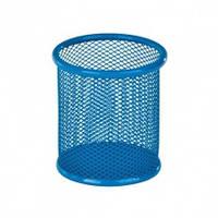 Подставка для ручек круглая,металлическая,синяя Zibi ZB.3100-02