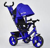 Детский трёхколёсный велосипед 6570 Best Trike ЭЛЕКТРИК, большие колёса Пена, с ручкой