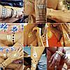 Временные золотые татуировки