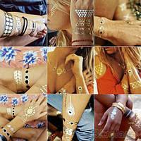 Временные золотые татуировки, фото 1