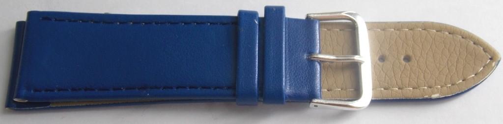 Ремешок кожаный LUX-PL (Польша) 24 мм, синий