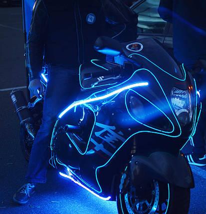 Работы по освещению мототехники холодным неоном и светодиодами, фото 2