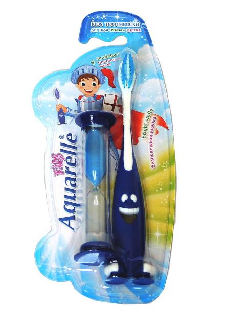 """Зубная щетка для мальчиков """"Aquarelle Kids"""" с песочными часами"""