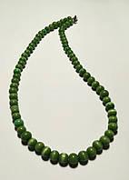 Бусы из Кошачьего глаза, натуральный камень, цвет зеленый и его оттенки, тм Satori \ Sk - 0011