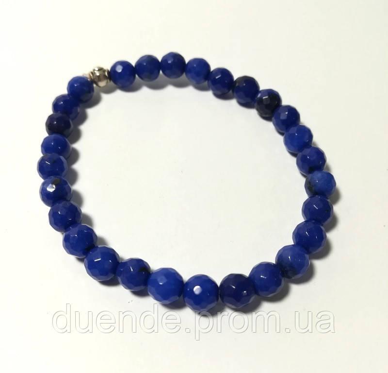 Браслет из Агата, натуральный камень, цвет синий и его оттенки, тм Satori \ Sb - 0183