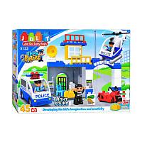 """Конструктор JDLT 5133 (Аналог Lego Duplo) """"Полицейский участок"""", 45 дет"""