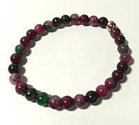 Браслет из Турмалина, натуральный камень, цвет оттенки красного, бордового, тм Satori \ Sb - 0195