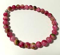 Браслет из Турмалина, натуральный камень, цвет оттенки розового, тм Satori \ Sb - 0196