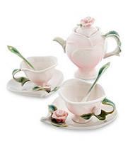 Фарфоровый чайный набор Роза на 2 персоны (Pavone)