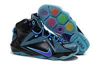 Мужские баскетбольные кроссовки Nike Lebron 12 (Black/Blue), фото 1
