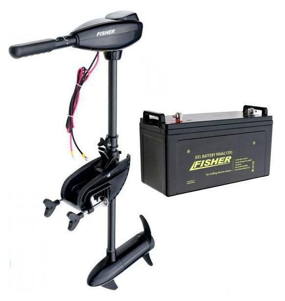 Електромотор для троллінгу Fisher 46+акумулятор гел. 120Ah, Fisher 46+120