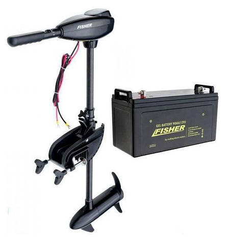 Електромотор для троллінгу Fisher 46+акумулятор гел. 120Ah, Fisher 46+120, фото 2