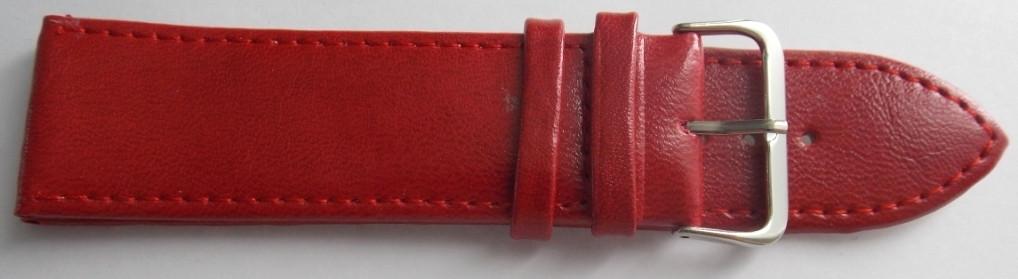 Ремешок кожаный LUX-PL (Польша) 26 мм, красный