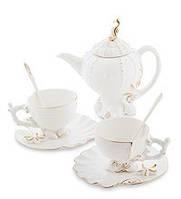 Фарфоровый чайный набор Морская ракушка на 2 персоны (Pavone)
