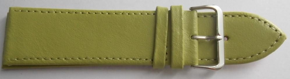 Ремешок кожаный LUX-PL (Польша) 26 мм, салатный