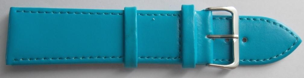 Ремешок кожаный LUX-PL (Польша) 26 мм, голубой