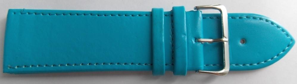 Ремешок кожаный LUX-PL (Польша) 28 мм, голубой