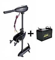 Электромотор для троллинга Fisher 32+аккумулятор agm 80Ah, Fisher 32+80а